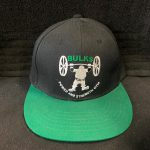 Bulks Embroidered Black And Green Snap Back Cap